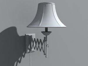 obj bedroom hinge lamp