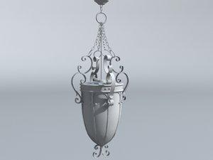 hallway chandelier 3d model