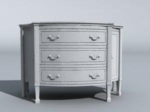 dresser furniture 3d obj