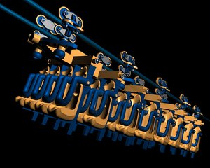 inverted rollercoaster train 3d model