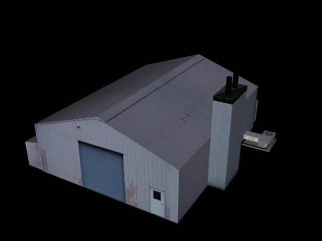 3ds max industrial building