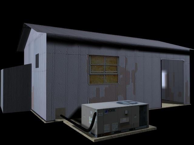 3d x industrial building