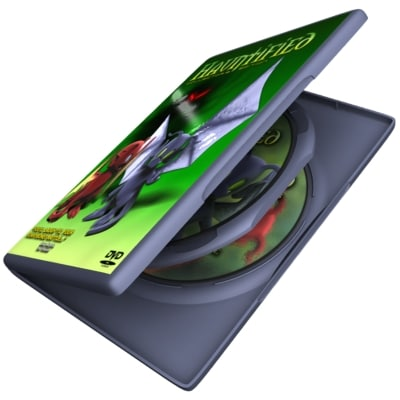 3d model dvd case discs sp
