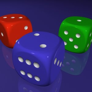 3d model dice rounded corners