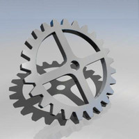 cog wheel gearing 3d model