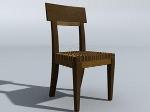 3d wicker chair model