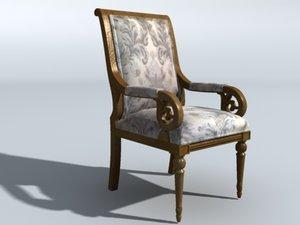 3d model living room chair