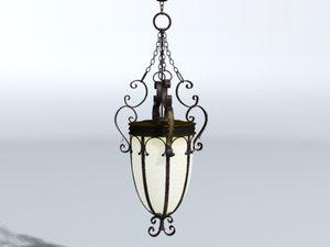 3d model hallway chandelier
