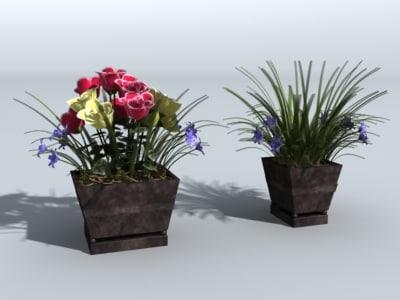 flower pots 3d model