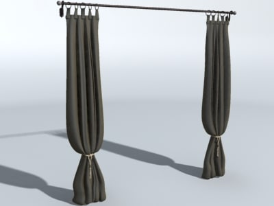 3d dining room drapes