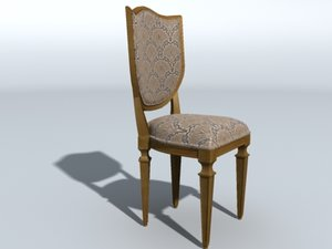 dining room chair 3d model