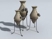 3ds max decorative urns