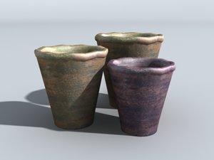 decorative pots 3d max