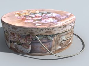 3d model circle container flower