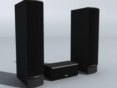 speakers 3d model