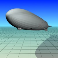 free zeppelin 129 hindenburg 3d model