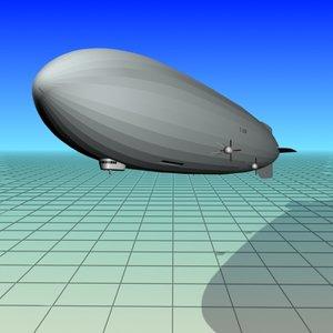 free zeppelin 129 hindenburg 3d model