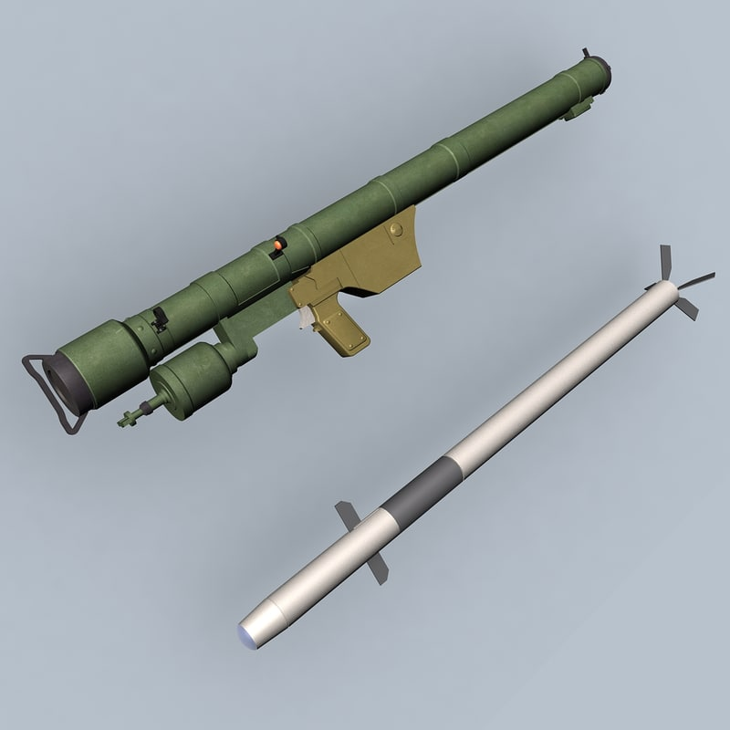 sa-7 missile launcher 3d model