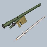 sa-18 missile launcher 3d model