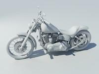 3d Harley Motocycle