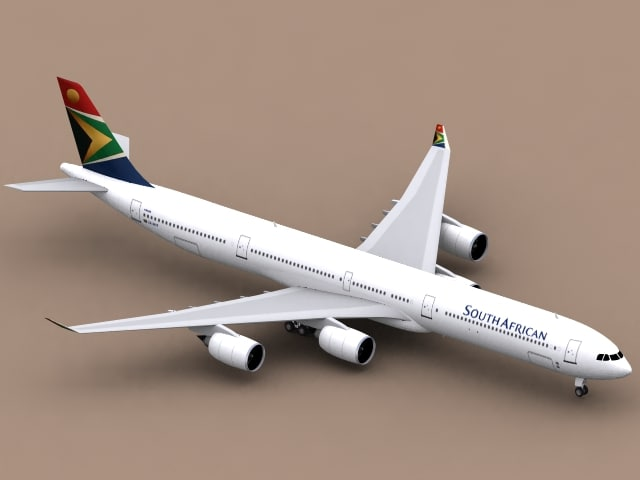 3ds max airbus a340-600 south african