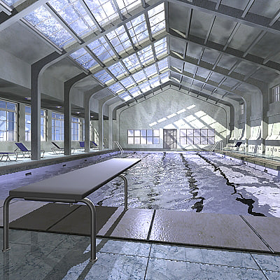3d model indoor swimming pool