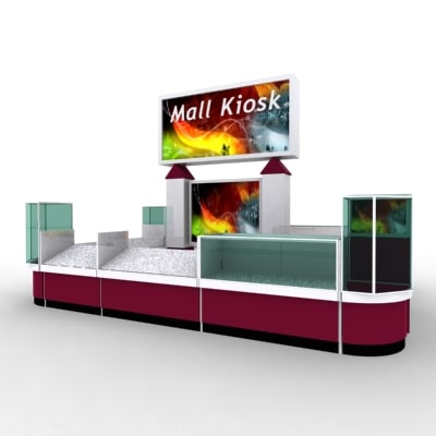mall kiosk 3d model