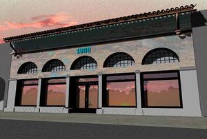 3d model spanish storefront store