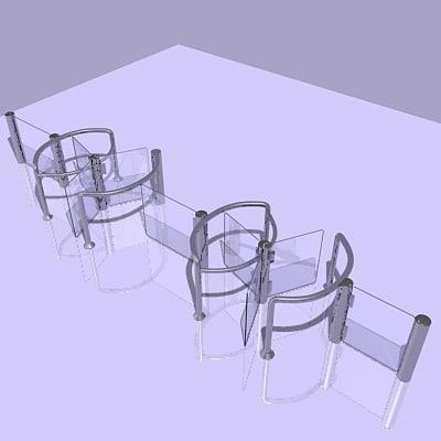 security barrier 3d model