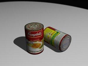 3d model of soup
