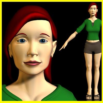 female simple character 3d ma
