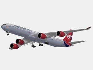 maya airbus a340-600 virgin atlantic