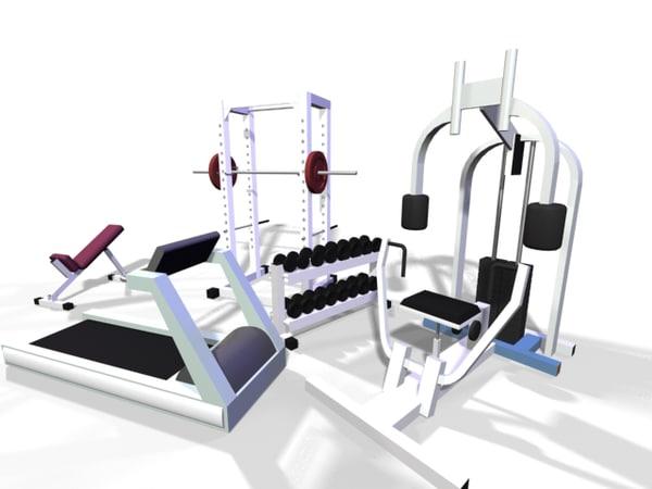 3d weight set model