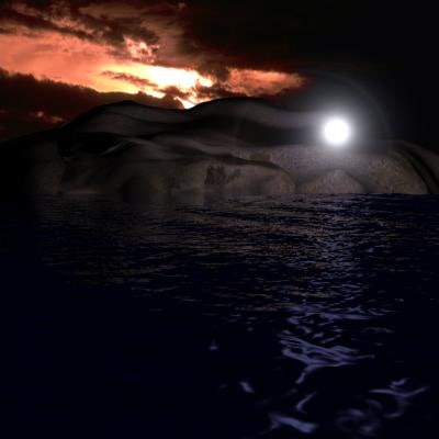 sea scene 3d model