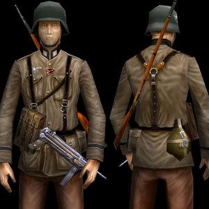 3d ww2 german soldier