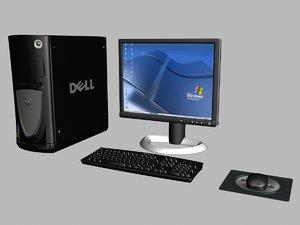 computer desktop 3d model