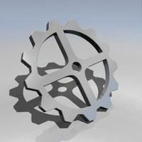 3d x cog wheel