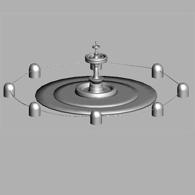 3d fountain architecture