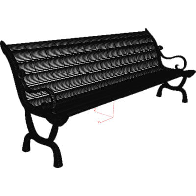 obj chair outdoor park