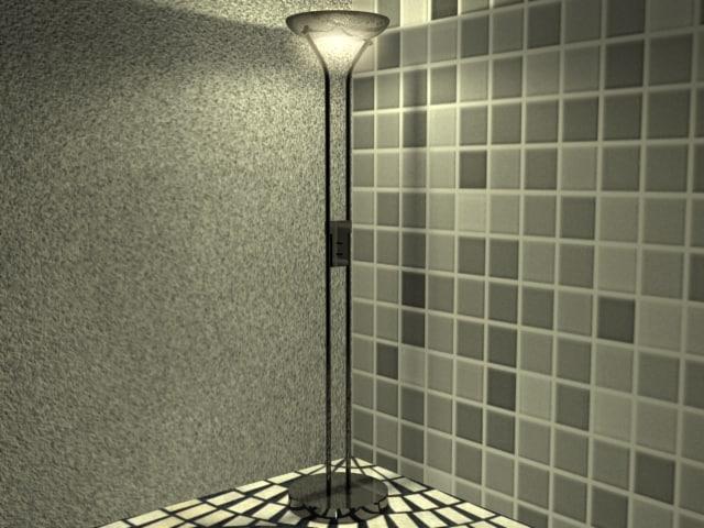 3d model of lamp perfect lighting