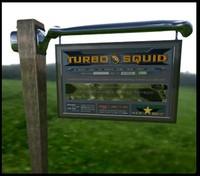 3d signpost post sign model