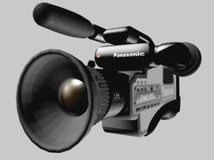 panasonic video camera m9500 3d model