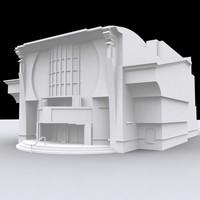 theatre building 3d model