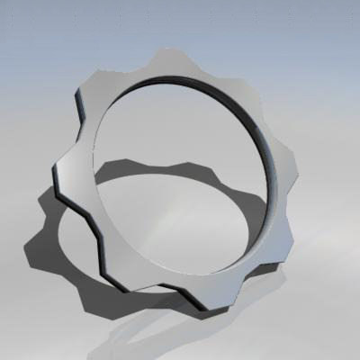 cog wheel 3d model