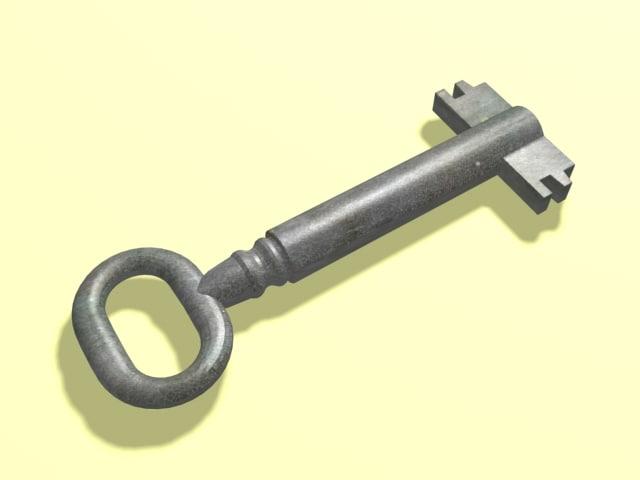 skeleton key 3d model