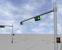 lights walk 3d model