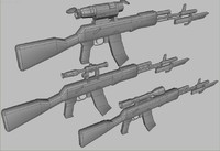 ak47 scopes 3d model