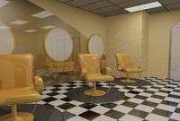 3d barber shop