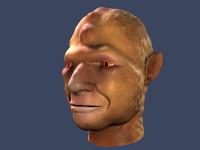 orc head 3d obj