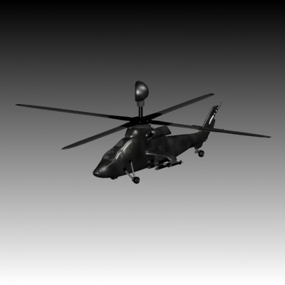 3d helicopter chopter model